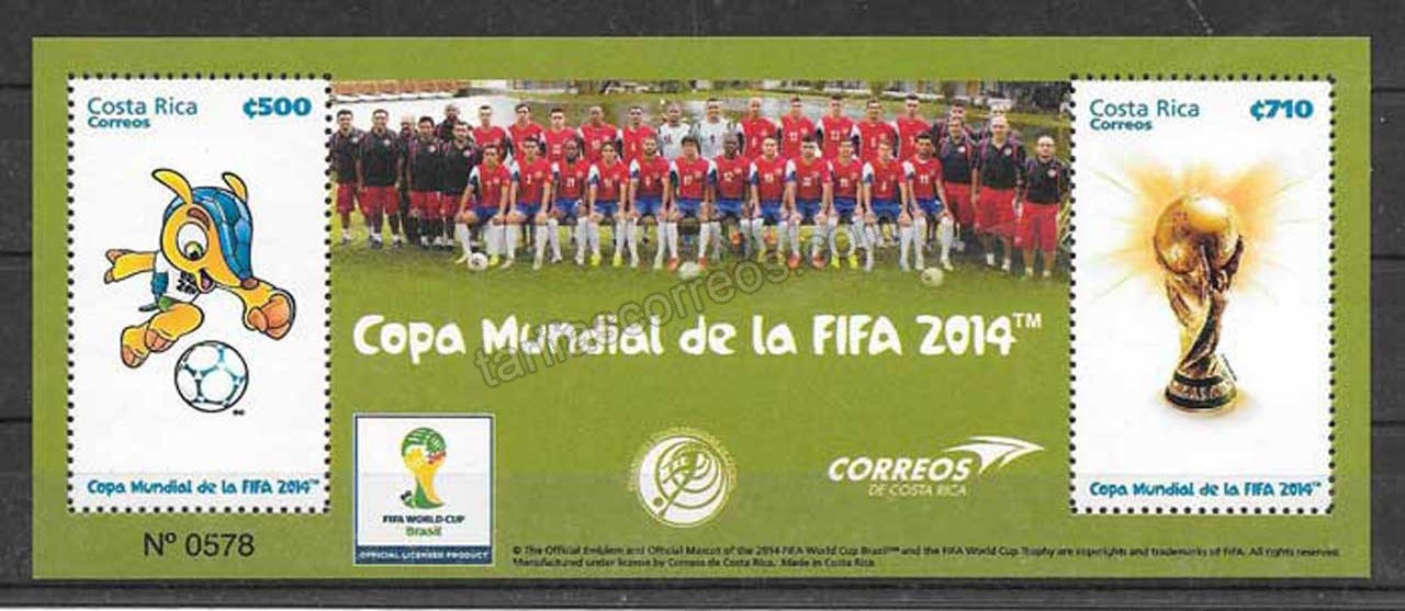 Sellos Filatelia Copa Mundial de la FIFA 2014 nuevos