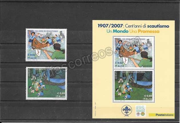 Filatelia sellos Tema Europa Italia Centenario de Boys Scoots