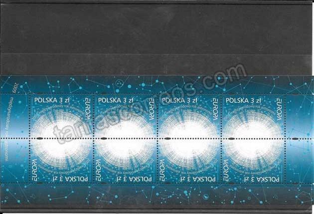 Colección sellos Tema Europa La Astronomía 2009