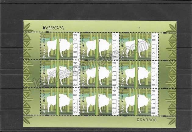 Colección sellos Tema Europa Los Bosques