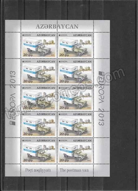 Sellos Tema Europa Azerbaiyán Vehículos Postales