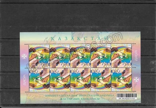Colección sellos Tema Europa Kazakstán La Integración