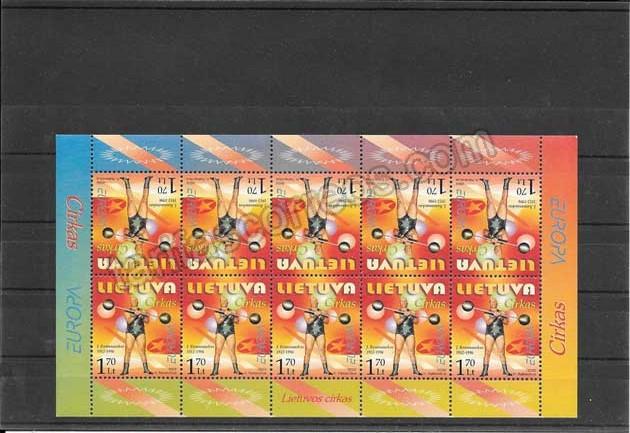 Colección sellos Tema Europa Lituania El Circo