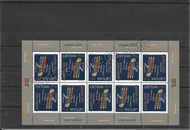 Colección sellos Tema Europa Lituania Los Niños