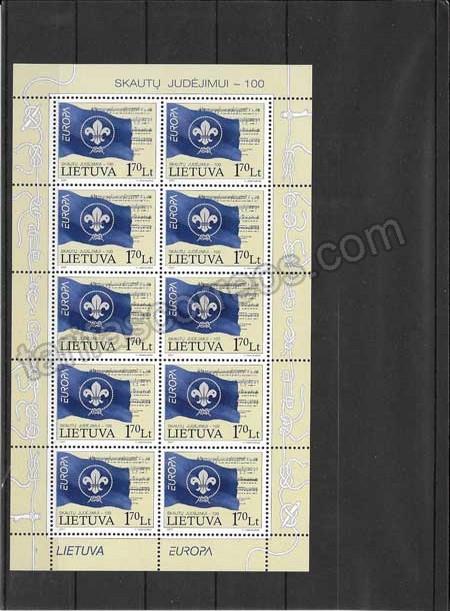 Colección sellos Tema Europa Lituania El Escultismo