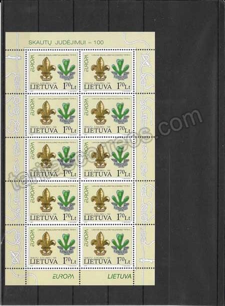 Colección sellos Tema Europa Lituania Escultismo