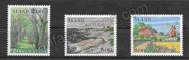 Sellos turismo Aland 1985