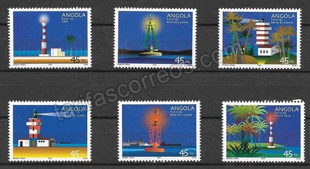 Sellos Faros de Angola 2002