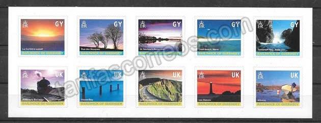 Colección sellos Paisajes de Guernsey 2001