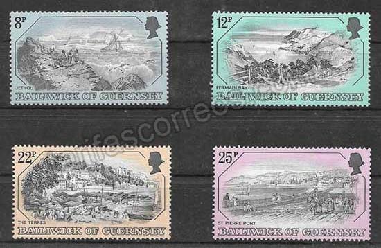 Colección sellos turismo de Guernsey 1982