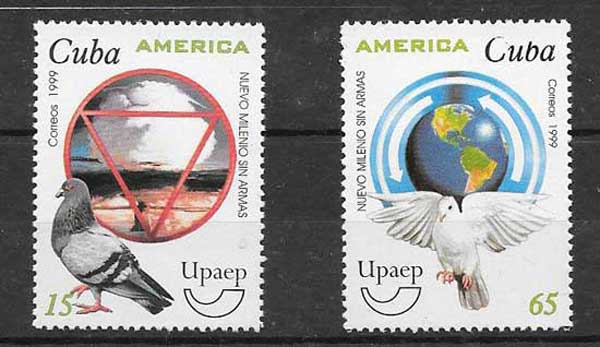Sellos América upaep Cuba 1999