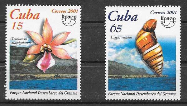 Sellos Tema UPAEP Cuba 2001