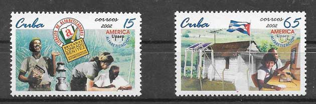 Colección sellos UPAEP Cuba 2002