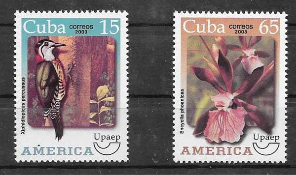 Colección sellos América UPAEP Cuba 2003