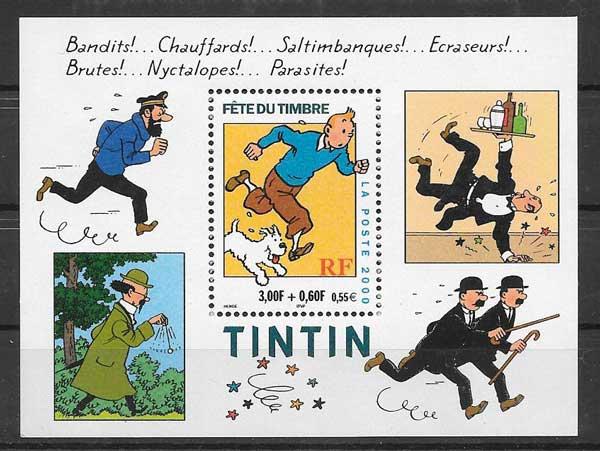 Filatelia Día del sello Francia 2000
