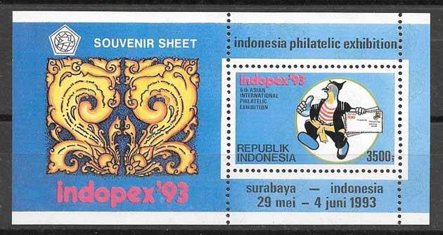 Estampillas comics Indonesia 1993