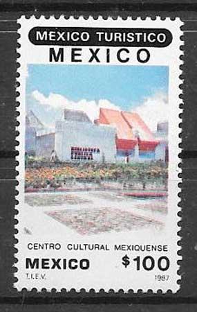 sellos turismo México 1987