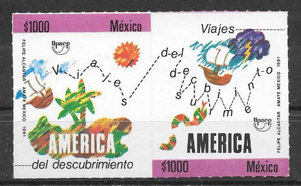 sellos América UPAEP México 1991