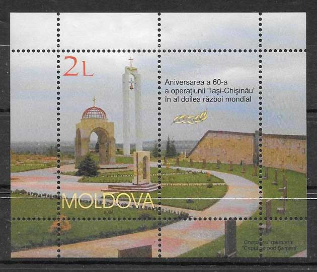 Filatelia Arquitectura moldavia 2004