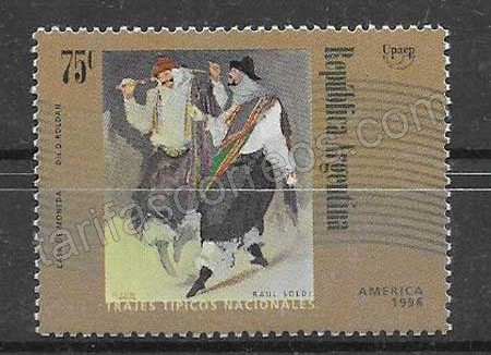 sellos postales filatelicos América UPAEP Aregentina 1997