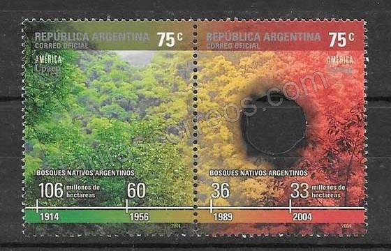 América UPAEP sellos republica argentina