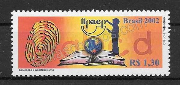 Colección sellos Brasil 2002 tema UPAEP