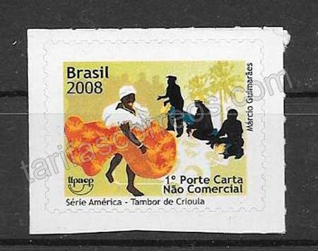 Estampilla América UPAEP Brasil 2008