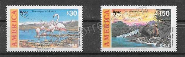 Colección sellos Chile UPAEP 1990