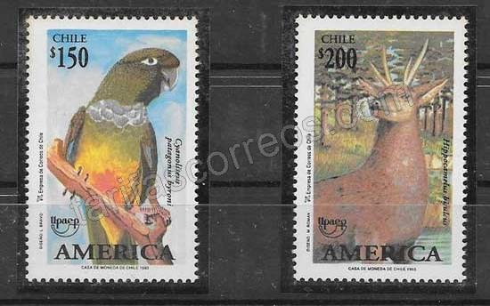 Colección sellos Chile UPAEP 1993