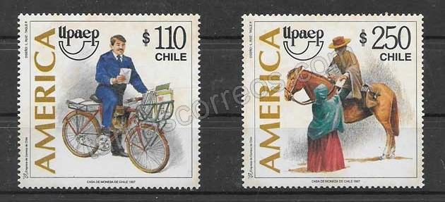 Estampillas UPAEP Chile 1997