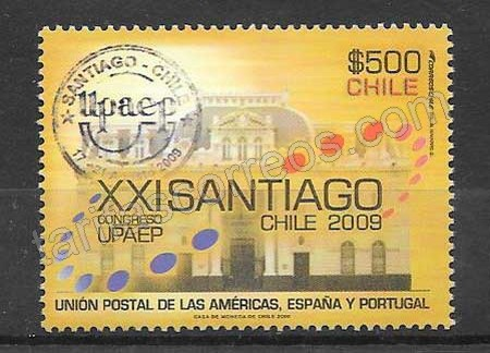 Estampillas UPAEP Chile 2009