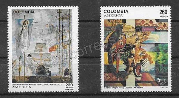Sellos de Colombia 1992